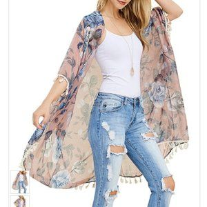 Floral Kimono - Women Riah Fashion ONE SIZE